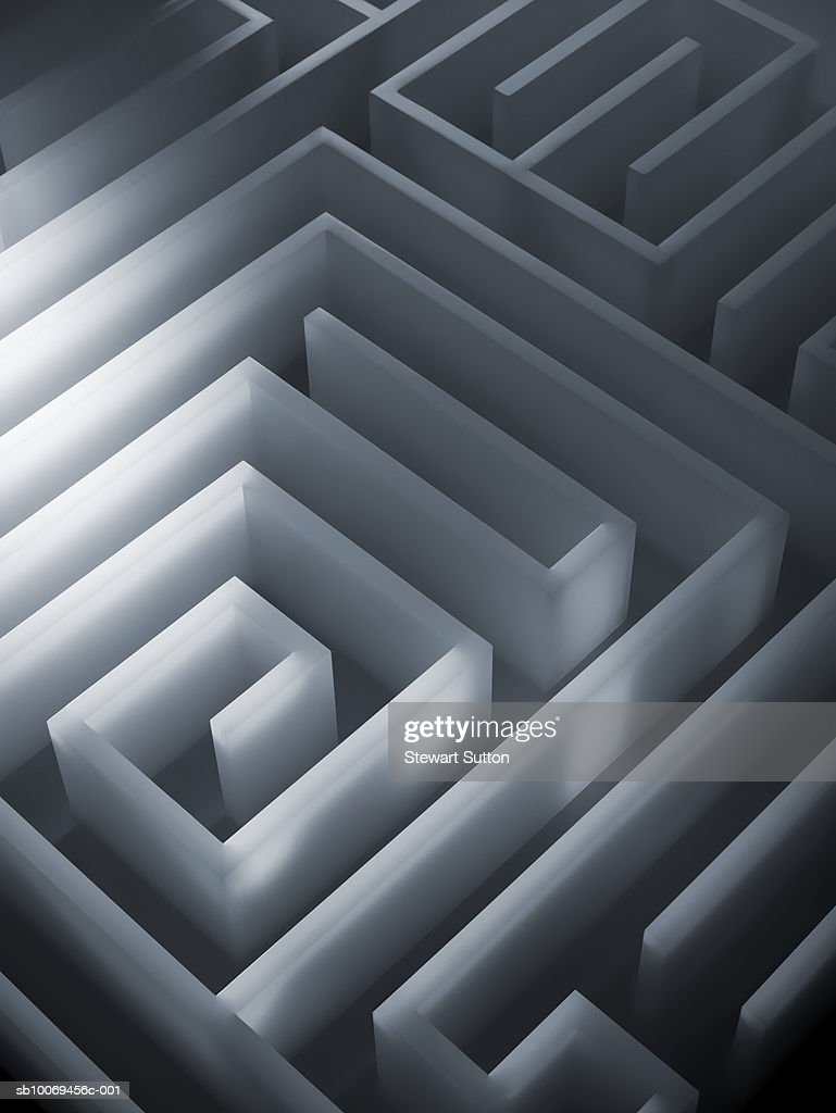 Three-dimensional maze : Stock Photo