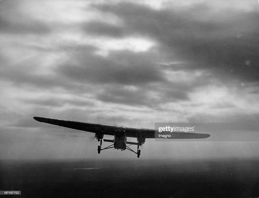Three-engined aircraft from Ford USA. About 1930. Photograph. (Photo by Imagno/Getty Images) Dreimotoriges Flugzeug von Ford. USA. Um 1930. Photographie.
