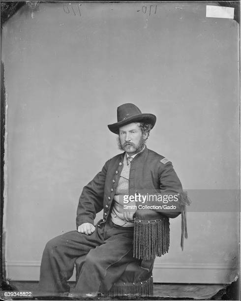 Threequarter length seated portrait of Edward P Doherty United States Civil War officer who led the capture of John Wilkes Booth 1863 Image courtesy...