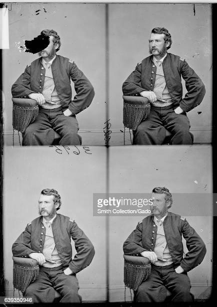 Threequarter length seated portrait of Edward Paul Doherty US Civil War officer who led the capture of John Wilkes Booth 1863 Image courtesy National...