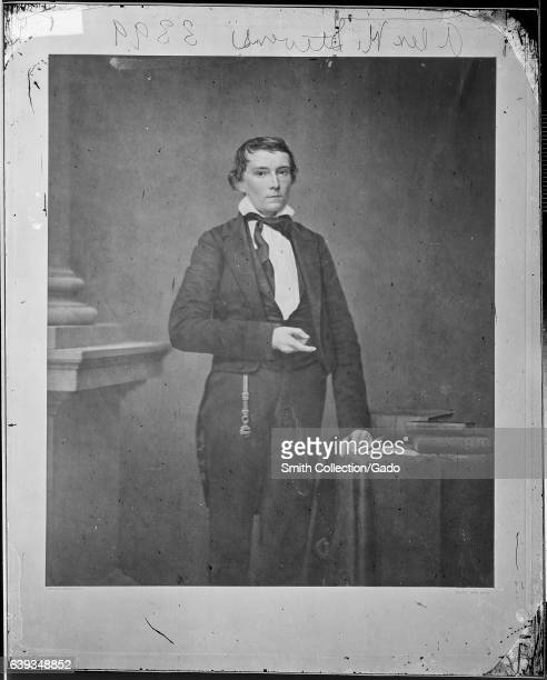 Threequarter length standing portrait of Vice President of Confederate States Alexander H Stephens 1863 Image courtesy National Archives