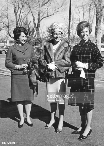 Threesome Arrives For Lunch At Cherry Hills Country Club Luncheon partners recently were from left Mrs Ted Stockmar Jr Mrs Joseph McConaty Mrs Bruce...