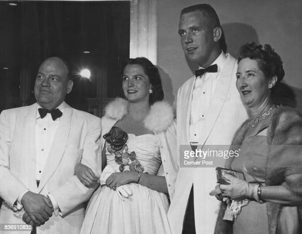 A threesome at the opening were Miss Diane King Allen Thoreen and Mrs Harold T King Miss King and Mr Thoreen are University of Colorado students...