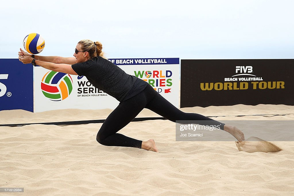 Three-time gold medalist Kerri Walsh Jennings returns to Beach Volleyball at the ASICS World Series of Beach Volleyball on June 25, 2013 in Manhattan Beach, California