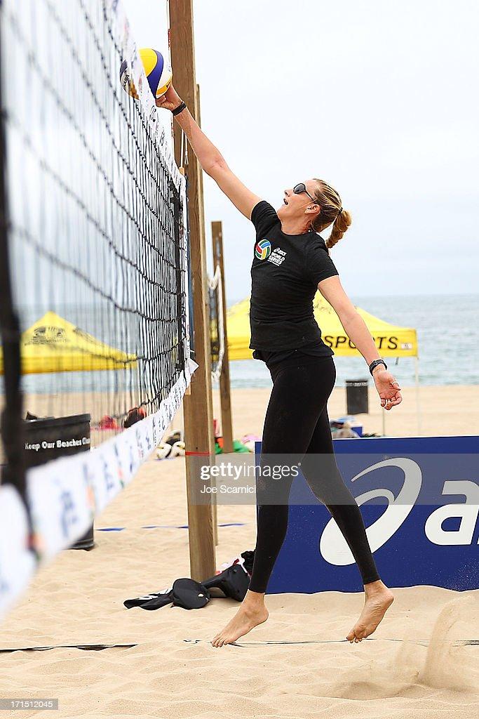 Three-time gold medalist Kerri Walsh Jennings returns to Beach Volleyball at the ASICS World Series of Beach Volleyball on June 25, 2013 in Manhattan Beach, California