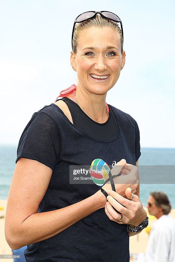 Three-time gold medalist <a gi-track='captionPersonalityLinkClicked' href=/galleries/search?phrase=Kerri+Walsh&family=editorial&specificpeople=162761 ng-click='$event.stopPropagation()'>Kerri Walsh</a> Jennings returns to Beach Volleyball at the ASICS World Series of Beach Volleyball on June 25, 2013 in Manhattan Beach, California