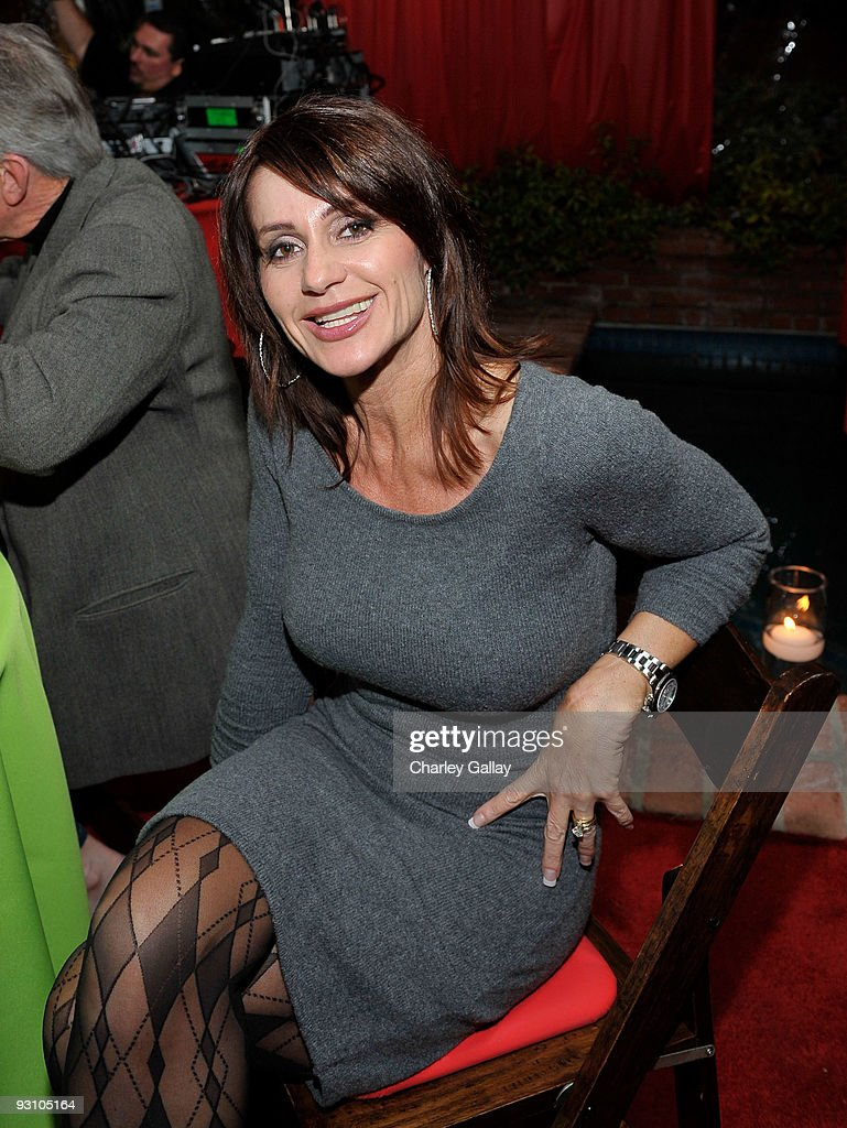 Threetime Olympic gold medalist Nadia Comaneci attends a party celebrating the release of the 'A Very Special Christmas 7' album at private residence...