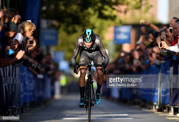 Threetime Tour de France winner Britain's Chris Froome of Team Sky takes part in the prologue of the Herald Sun Tour cycling event in Melbourne on...