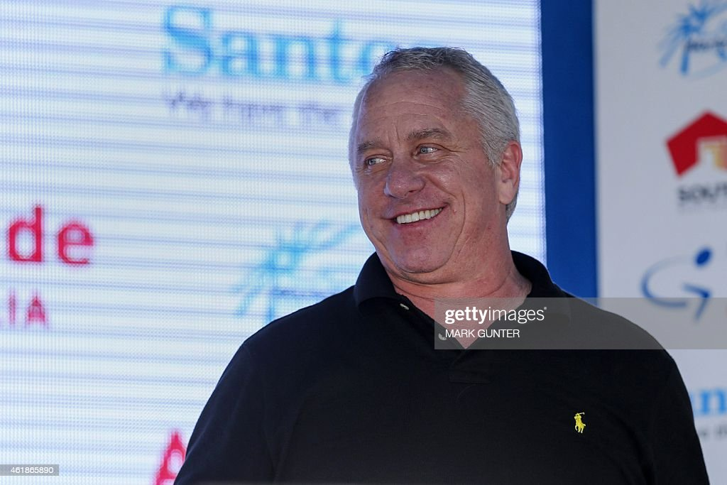 Three-time Tour de France winner Greg Lemond of the US smiles during presentations for stage two of the 2015 Tour Down Under cycling competition in Adelaide on January 21, 2015. The Tour Down Under is being held between January 18 to 25.