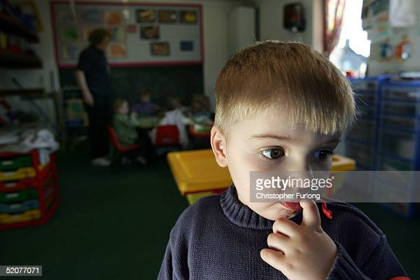 A threeyearold boy attends a private nursery school January 28 2005 in Glasgow Scotland The average price of preschool care has increased over the...