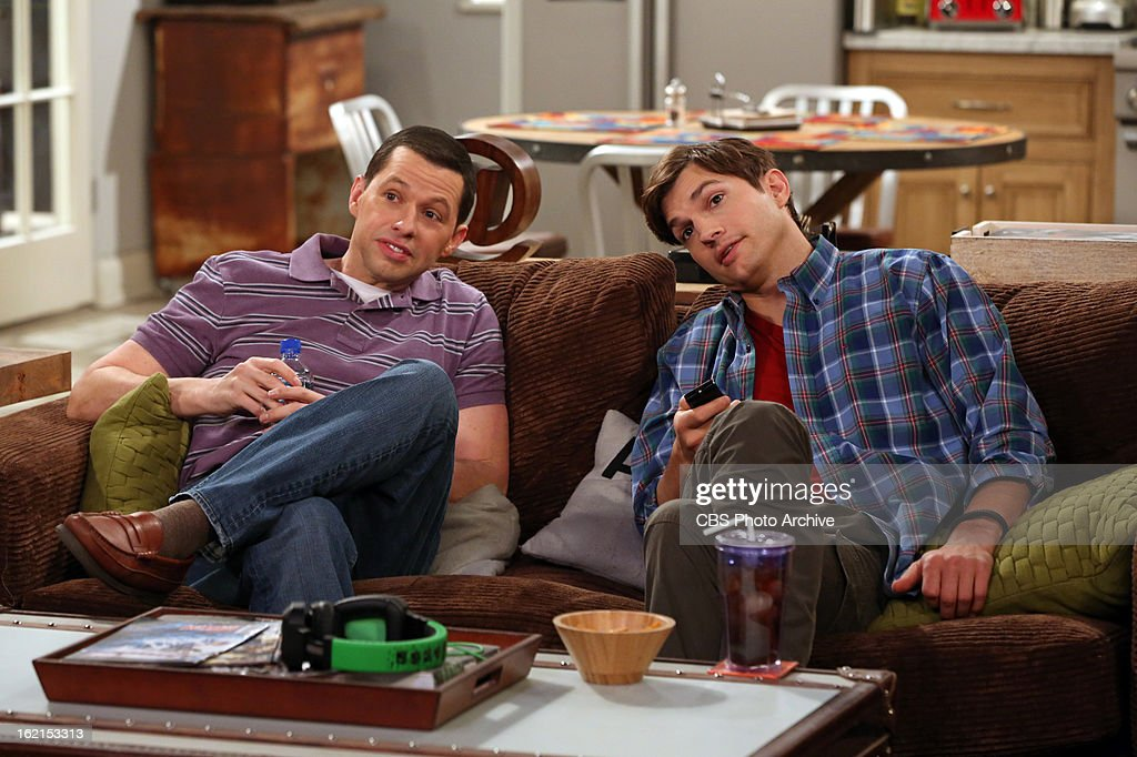 'Throgwarten Middle School Mysteries' -- When Walden runs into his ex-wife at a high-end singles mixer and they talk about getting back together, Alan worries that she's not good for Walden, on TWO AND A HALF MEN, Thursday, Feb. 21 (8:31 ' 9:01 PM, ET/PT) on the CBS Television Network. Judy Greer returns as Bridget, Walden's ex-wife. Left: Alan Harper (Jon Cryer), Right: Walden Schmidt (Ashton Kutcher) m