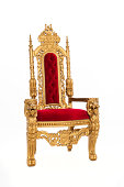 a big golden throne / like the one santa uses / or maybe a king