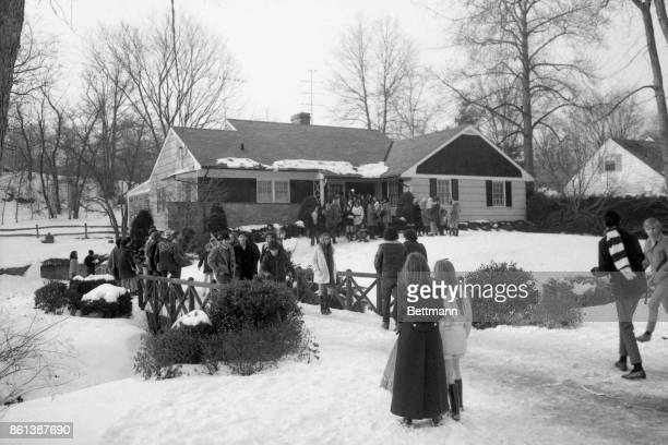 A throng of supplicants gather around the suburban home of Michael Brody Michael James Brody who inherited $25 million on his 21st birthday last...