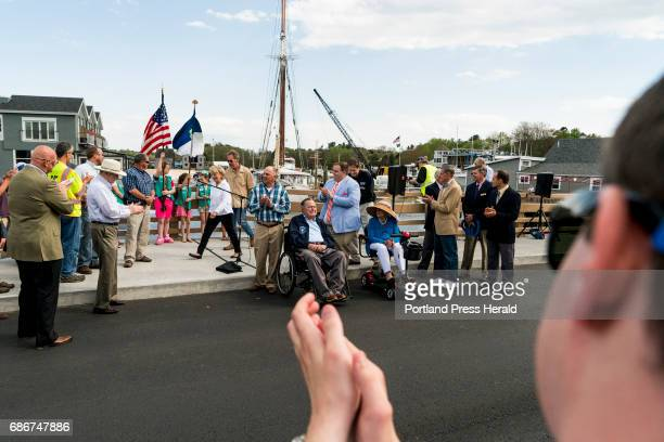 Throngs of people crowded the new Mathew J Lanigan bridge for its dedication ceremony Friday May 19 including former President George HW Bush and...