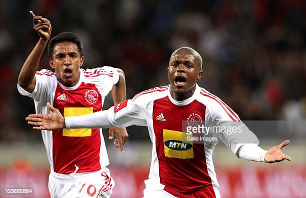 Thulani Serero from Ajax CT celebrates his goal during the Absa Premiership match between Ajax Cape Town and Blomfontein Celtic at Cape Town Stadium...