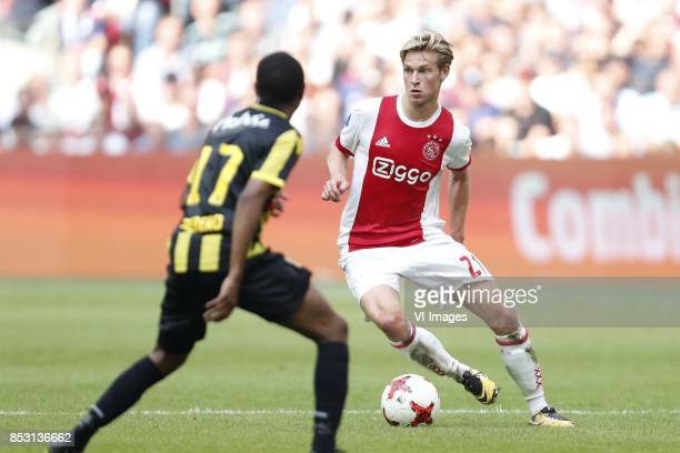Thulani Serero of Vitesse Frenkie de Jong of Ajax during the Dutch Eredivisie match between Ajax Amsterdam and Vitesse Arnhem at the Amsterdam Arena...