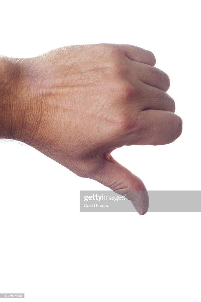 Thumbs Down : Stock Photo