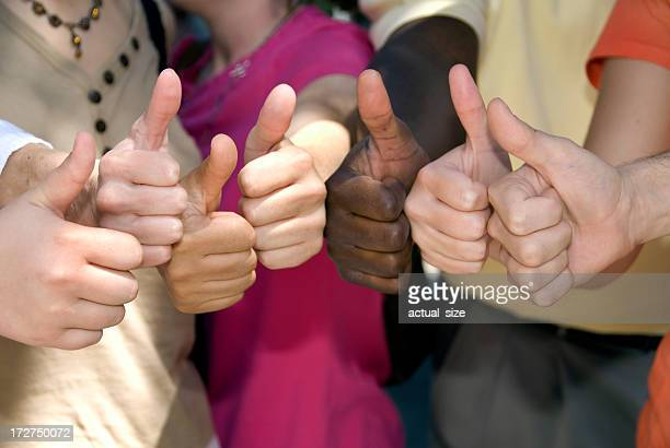 Thumbs Up for Success and Achievement