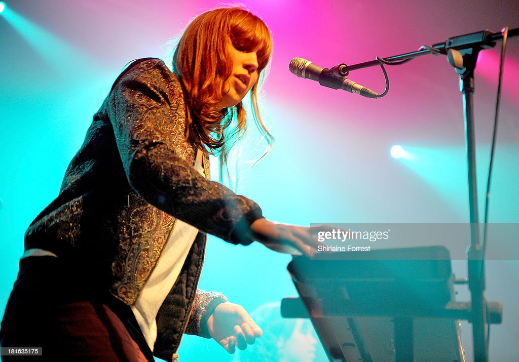 Thumpers perform a sold out show supporting Chvrches at The Ritz, Manchester on October 14, 2013 in Manchester, England.