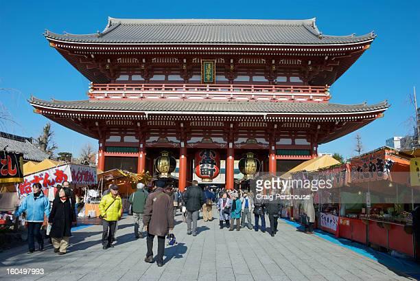 Thunder Gate, main entrance to Senso-ji Temple.