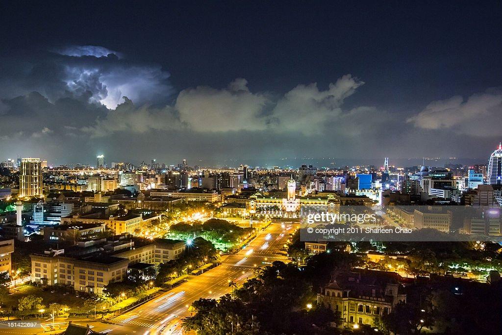 Thunder lighting night : Stock Photo
