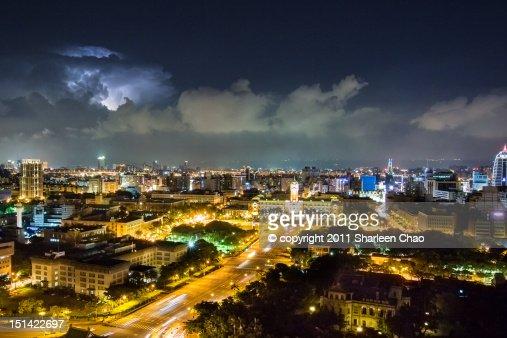 Thunder lighting night : Foto stock