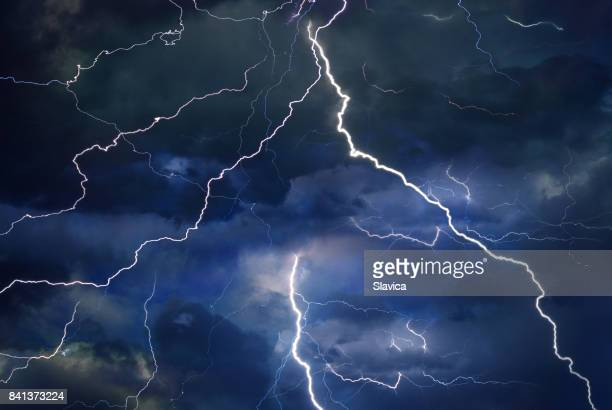 Thunder, lightning, and rain during summer storm