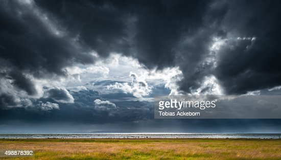 Thunder storm clouds