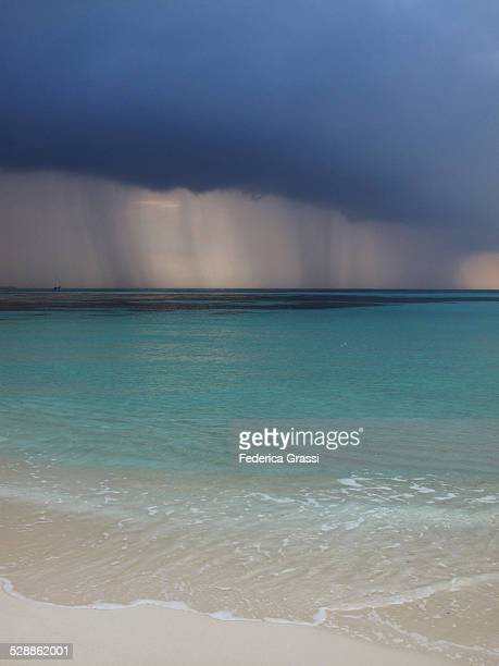 Thunderstorm Approaching Maldivian Beach