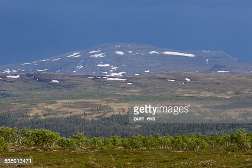 Thunderstorm in the mountains : Stock Photo