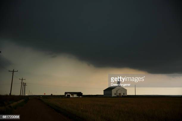 A thunderstorm rolls into the area in Paducah Texas May 10 2017 Wednesday was the group's third day in the field for the 2017 tornado season for...