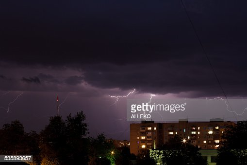 Temporale con lightning : Foto stock