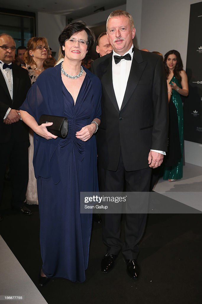 Thuringia Governor Christine Lieberknecht and her husband Martin Lieberknecht attend the 2012 Bundespresseball (Federal Press Ball) at the Intercontinental Hotel on November 23, 2012 in Berlin, Germany.