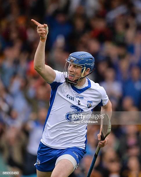 Thurles Ireland 13 August 2016 Austin Gleeson of Waterford celebrates scoring his side's first goal during the GAA Hurling AllIreland Senior...