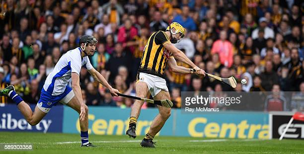 Thurles Ireland 13 August 2016 Colin Fennelly of Kilkenny scores his side's first goal under pressure from Barry Coughlan of Waterford in the eight...