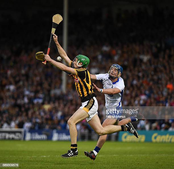 Thurles Ireland 13 August 2016 Joey Holden of Kilkenny in action against Patrick Curran of Waterford during the GAA Hurling AllIreland Senior...