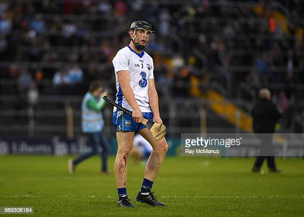 Thurles Ireland 13 August 2016 Kevin Moran of Waterford looks up at the large screen just after the final whistle was blown at the GAA Hurling...