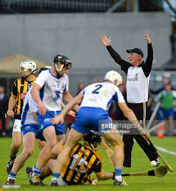 Thurles Ireland 13 August 2016 Kilkenny manager Brian Cody reacts during the GAA Hurling AllIreland Senior Championship SemiFinal Replay game between...