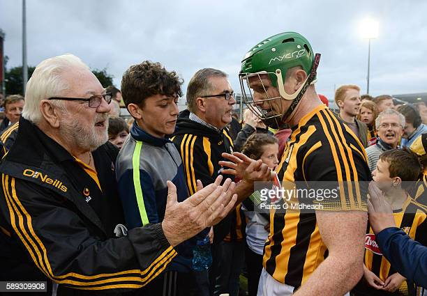 Thurles Ireland 13 August 2016 Paul Murphy of Kilkenny celebrates with supporters after the GAA Hurling AllIreland Senior Championship SemiFinal...