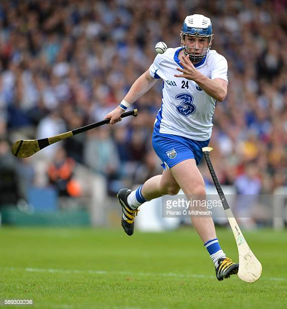 Thurles Ireland 13 August 2016 Stephen Bennett of Waterford avoids a flying hurley to set up teammate Jake Dillon to score his side's second goal...