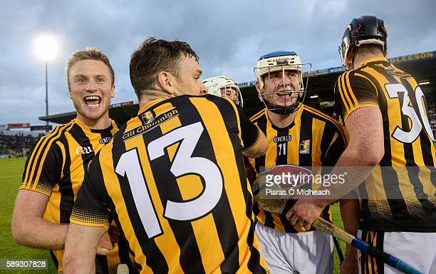 Thurles Ireland 13 August 2016 TJ Reid second from right who scored two late frees celebrates with teammates after the GAA Hurling AllIreland Senior...