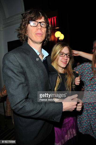 Thurston Moore and attend Quicktake Rodarte Opening cocktail party sponsored by Nordstrom and Vogue at Cooper Hewitt Museum on February 18 2010 in...
