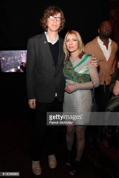 Thurston Moore and Kim Gordon attend QUICKTAKERODARTE Opening Cocktail Party Sponsored by Nordstrom and Vogue at CooperHewitt Museum on February 18...
