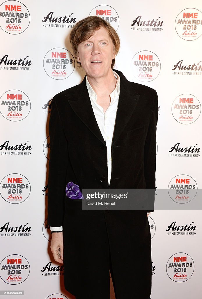 Thurston Moore attends the NME Awards with Austin, Texas, at the O2 Academy Brixton on February 17, 2016 in London, England.