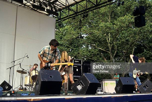 Thurston Moore of Sonic Youth performs at Central Park SummerStage New York July 4 1992