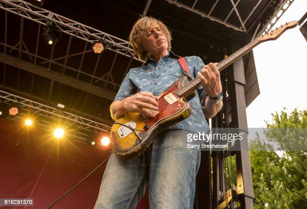 Thurston Moore performs with band during 2017 Pitchfork Music Festival at Union Park on July 14 2017 in Chicago Illinois