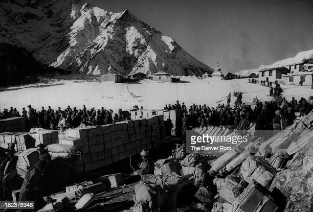 OCT 20 1963 Thyangboche Lamasery is the last inhabited place in Nepal on the way to Mount Everest world's highest peak which was conquered by the...