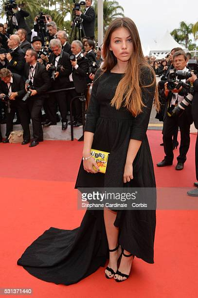 Thylane Blondeau attends 'The BFG ' premiere during the 69th annual Cannes Film Festival at the Palais des Festivals on May 14 2016 in Cannes France