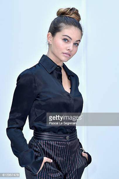 Thylane Blondeau attends the Chanel show as part of the Paris Fashion Week Womenswear Spring/Summer 2017 on October 4 2016 in Paris France
