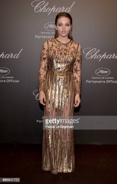 """Thylane Blondeau attends the Chopard """"SPACE Party"""" hosted by Chopard's copresident Caroline Scheufele and Rihanna at Port Canto on May 19 in Cannes..."""